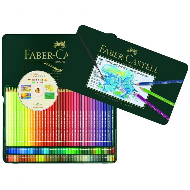 Faber-Castell Albrecht Durer Watercolour Pencils Tin 120 Pack
