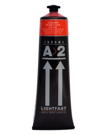 A2 Acrylic Cadmium Scarlet