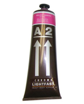 A2 Acrylic Brilliant Magenta 120ml