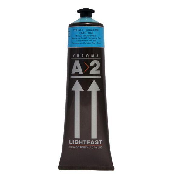 A2 Acrylic Cobalt Turquoise Light Hue 120ml