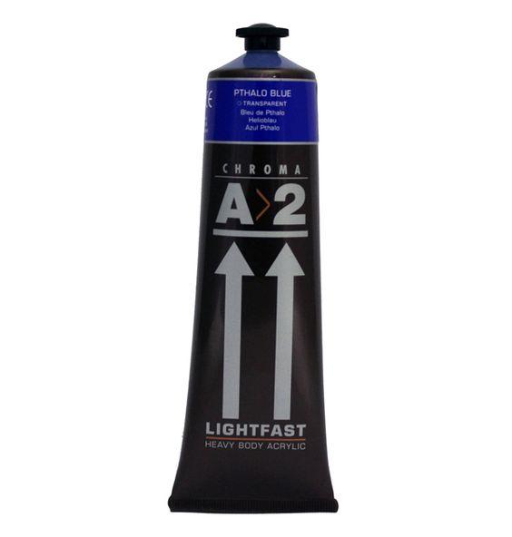 A2 Acrylic Pthalo Blue 120ml