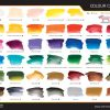 A2 Acrylic Colour Chart