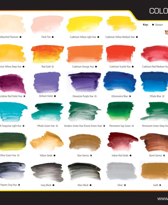 A2 Colour Chart
