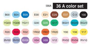 Copic Ciao Set 36A colours