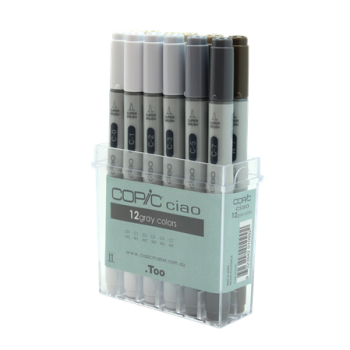 Copic Ciao Set 12 Greys