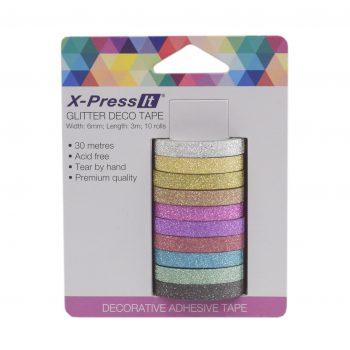 0033308_x-press-it-deco-tape-glitter-6mm-x-5m-x-10-rolls
