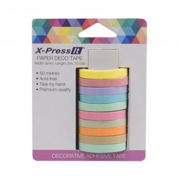 0033309_x-press-it-deco-tape-paper-6mm-x-5m-x-10-rolls